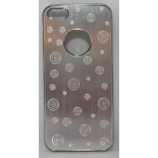 PVC-пластмасов калъф за Apple iPhone 5 метален сребърен