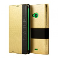 Калъф FLIP COVER LUMIA 535 GOLD SKIN